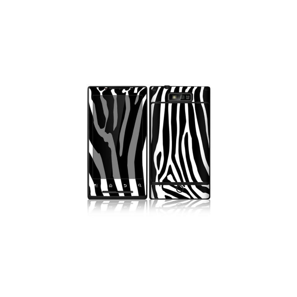 Zebra Print Design Decorative Skin Cover Decal Sticker for Motorola Droid Triumph Cell Phone