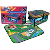 Neat-Oh! ZipBin Full Throttle Small Town 220 Car Toy Box & Playset w/ 1 Car
