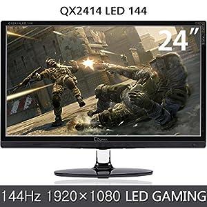 QNIX 24型 144Hz LED液晶ディスプレイ/ゲーミングモニター/1920×1080 FULL HD(QX2414 LED 144/QXMO2414)