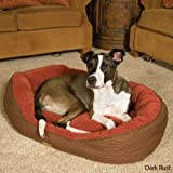 Precision Pet Pillow Soft Daydreamer Med 26 In. X 22 In. X 10 In. Brown Plaid Bump Chenille