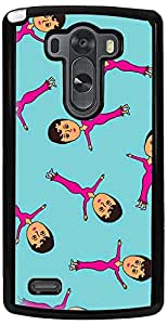 PrintVisa 2D-LGG3-D7725 Cartoon pattern Girl Case Cover for LG G3