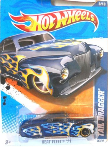 2011 Hot Wheels 98/244 - Heat Fleet 8/10 - Tail Dragger (Green)