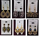 A-04 Wholesale Lots 12 Pairs Fashion Drop Earrings with Stones