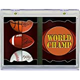 All Sports All Teams Vertical 2-Panel Ultra Pro Card Holder with Stand, Clear