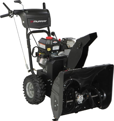 Murray 1695979 24-Inch 205Cc Briggs & Stratton 800 Snow Series Gas Powered Two Stage Snow Thrower With Electric Start