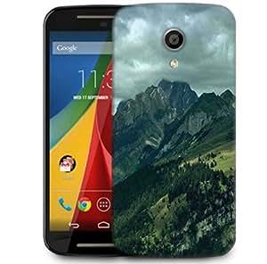 Snoogg Garden On Hill Top Designer Protective Phone Back Case Cover For Motorola G 2nd Genration / Moto G 2nd Gen