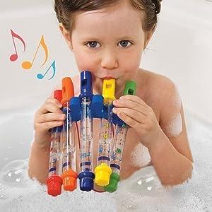 M Toys - Agua flautas silbidos música hojas musicales tiempo juguete relleno de siembra - BebeHogar.com