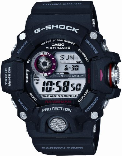 Casio G-SHOCK MASTER OF G RANGEMAN Triple Sensor Ver.3 Multiband 6 Solar - Tactical Men's Watch GW-9400J-1JF (Japan Import)