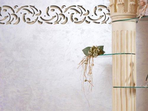 wandschablone floral iii plastik 40x14cm motivh he 7cm. Black Bedroom Furniture Sets. Home Design Ideas