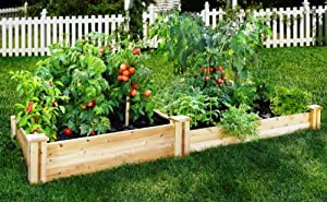 "Greenes Cedar Raised Garden Kit 4' x 8' x (10.5""-7"")"