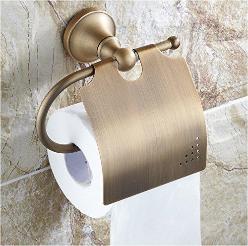 Beelee Bathroom Tissue Holder/toilet Paper Holder Solid Brass Wall-mounted Toilet Roll Holder, Antique Brass Finished (Preston Inspirations Paper Holder compare prices)