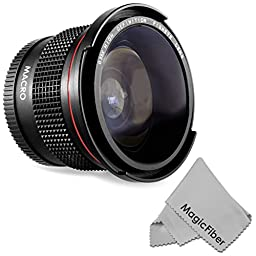 Altura Photo 58MM 0.35x Fisheye Wide Angle Lens with Macro Close-Up Portion