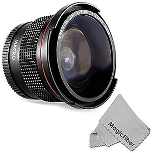 58MM 0.35X Altura Photo Professional Super Fisheye Wide Angle Lens w/ Macro Close Up for CANON REBEL (T5i T4i T3i T2i T1i XT XTi XSi SL1), CANON EOS (700D 650D 600D 1100D 550D 500D 100D 60D 7D) DSLR Cameras + MagicFiber Microfiber Lens Cleaning Cloth