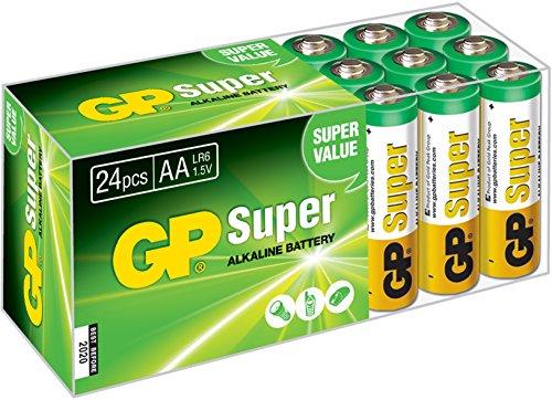 GP AA super piles alcalines 24 il Advantage Pack (LR06 Multipack 24 pièces)