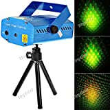 Sound Activated Disco Music Stage Mini Laser Projector Light with Red Green Light for Party Disco Club FLP-203966