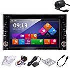 Rear Camera Included 2014 New Model 6.2-Inch Double-2 DIN In Dash Car DVD Player Touch screen LCD Monitor with DVD/CD/MP3/MP4/USB/SD/AMFM/RDS Radio/Bluetooth/Stereo/Audio and GPS Navigation SAT NAV Head Deck Tape Recorder Wall Paper exchange HD:800*480 LCD+Windows Win 8 UI Design Free GPS Antenna+Free Official Kudo GPS Map+Free Backup Camera