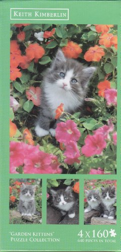 """Garden Kittens"" By Keith Kimberlin 4x160 Puzzle"