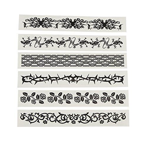 Glow-in-the-Dark Wrist Tattoos (12 Pack) 7""