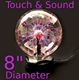 "8"" Plasma Nebula Ball Lightning Electricity Party Light Touch & Sound Activated"