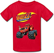YWT Blaze And The Monster Machines Kid39s T-shirts Vintage