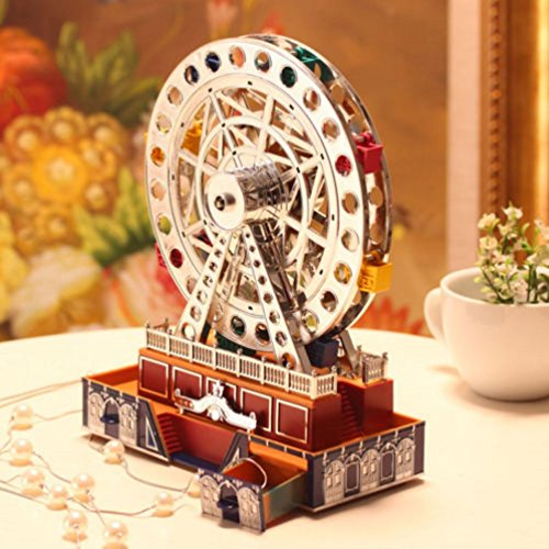 Musical Light Up Ferris Wheel Jewelry Box Figurine - Plays For Elise