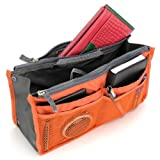 多機能マルチバッグ13個の収納ポケット付き!バッグインバッグ/多機能収納袋 (ライトピンク)