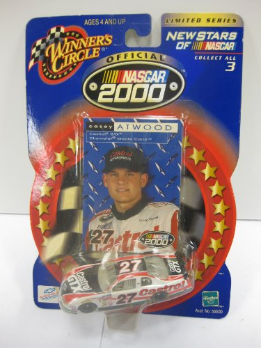 Casey Atwood #27 Castrol GTX Monte Carlo NASCAR 2000 New Stars of NASCAR Limited Series 1/64 Scale Winners Circle With Trading Card - 1