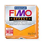 STAEDTLER FIMO Effect Transparent Orange (404) FIMO Effect Polymer Modelling Moulding Clay Block Oven Bake Colour 56g (Pack Of 10)