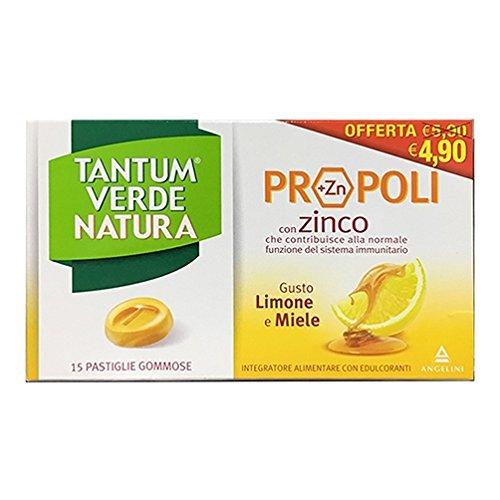 Tantum Verde Natura Pastiglie Gommose Limone & Miele 20 Compresse