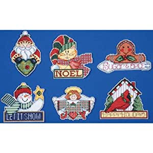 Amazon.com - Signos de adornos de navidad puntada en cruz Kit, 3-1 / 2