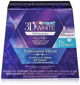 Crest 3D White Luxe Whitestrips Professional Effects 20 Treatments + Crest 3D White Whitestrips 1 Hour Express 2 Treatments - Teeth Whitening Kit