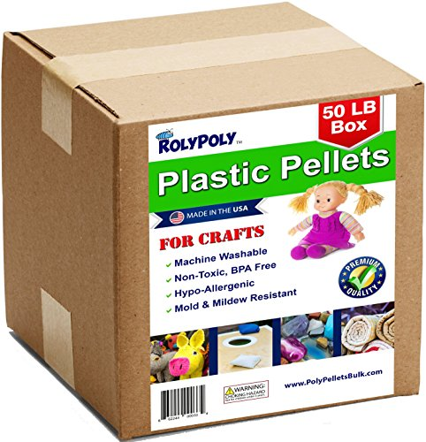 Poly Pellets Bulk for Weighted Blankets, Bean Bags Bulk Box (50 LBS) Non-Toxic, Premium Quality Made in the USA for Rock Tumbling, Stuffing & Filling Dolls, Crafts, Corn Hole Bags (Down Alternative Stuffing compare prices)