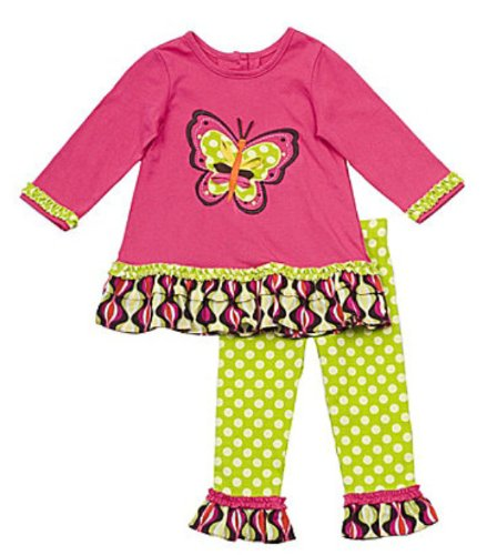 Rare Editions Infant Butterfly Shirt and Leggings Set 3 Months 24 Months 12 Months