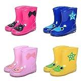 Vktech可愛いキッズ用レインブーツ 子供 子供用 長靴 ながぐつ 乳児 幼児 小学生 子ども用 雨靴 キッズ ジュニア 男の子 女の子 男女兼用 ランキングお取り寄せ