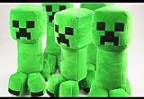 好評販売コスプレ小道具/小物♪Minecraft(マインクラフト)クリーパー(Creeper) ぬいぐるみ 人形 30cm 5点 コスチューム