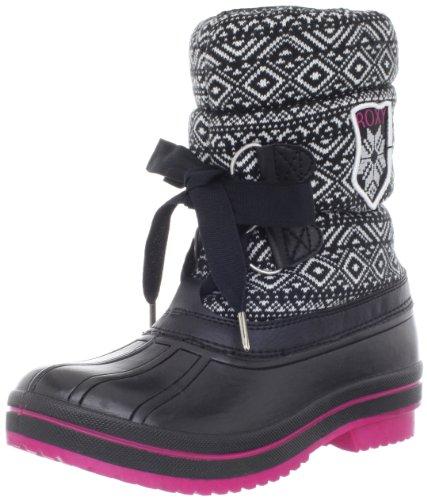 Roxy Women's Powder Boot,Black/White,7.5 B US