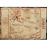 The Hobbit Poster: Lonely Mountain Map (98x68)