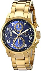 Invicta Women's 17418 I-Force Analog Display Japanese Quartz Gold Watch