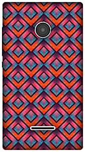 The Racoon Grip Crystallized Diamonds hard plastic printed back case / cover for Microsoft Lumia 435