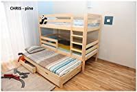 3ft Single Triple Bunk Bed made of Solid Pine Wood