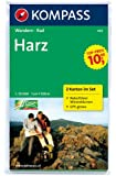 Harz: Wanderkarten-Set mit Radrouten und Naturführer Wiesenblumen. GPS-genau. 1:50000 (KOMPASS-Wanderkarten)
