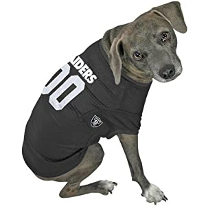 NFL Oakland Raiders #00 Black Dog Jersey (Medium) by Hunter