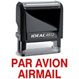 PAR AVION AIRMAIL Red Stock Self-Inking Rubber Stamp