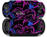 Sony PS Vita Skin Twisted Garden Hot Pink and Blue by WraptorSkinz