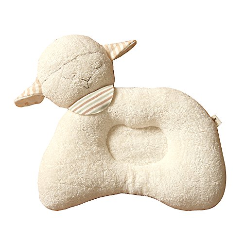 100% Organic Cotton Baby Prevent Flat Head, Lamb Style Pillow front-934058