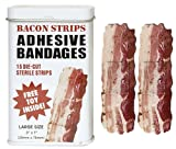 MEAT MANIAC MEGA Bacon Lovers Sampler Gift Pack with Sticker- Bacon Bandaids, Bacon Lip Balm, Bacon Mints & Bacon Gumballs