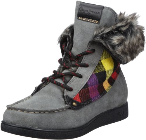 Pepe Jeans Women's Aldgate Dark Grey Ankle Boots PFS10602 6 UK