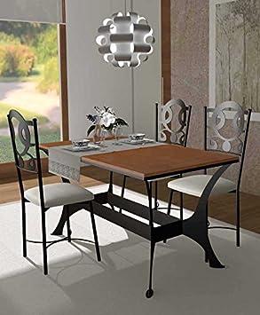 tavoli di Sala da Pranzo in Ferro battuto e legno : collezione OSLO RYS