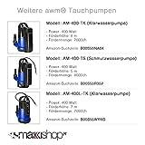 AWM-Tauchpumpe-Flachsaugend-Gartenpumpe-Wasserpumpe-250-Watt-Klarwasser-10-m-Rundkabel-Frderhhe-6-m-Frdermenge-6000lh-AM-250-TK