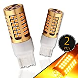 EverBright Turn Signal Blinker Brake Lights 7440 992 T20 Replacement For Front Tail Lamp Canbus No Error Amber 3030 78SMD 2200 Lumen DC12V (Color: Green, Tamaño: 7440)